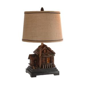 Homestead - One Light Table Lamp with Nightlight