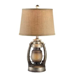 Oil Lantern - One Light Table Lamp with Nightlight