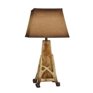 Antler Cage - Two Light Table Lamp with Nightlight