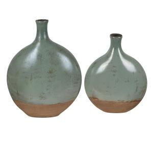 Dunleaf - 15.5 Inch Oval Vase (Set of 2)