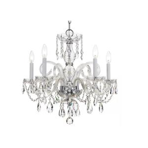Traditional Crystal Crystal 3 Light Ceiling Mount