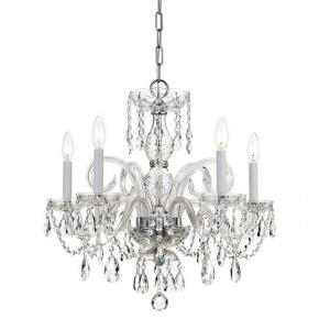 Traditional Crystal Crystal 5 Light Chandelier