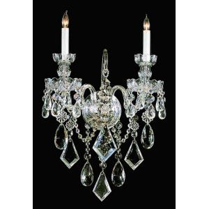 """Traditional Crystal - 18.5"""" Two Light Wall Mount"""
