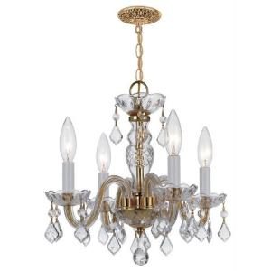 Traditional Crystal - Four Light Mini Chandelier