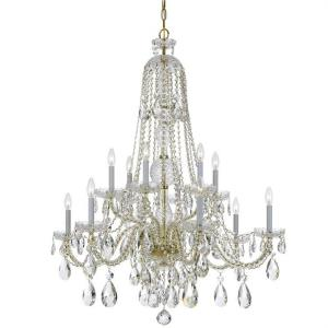 Crystal - Six Light Chandelier in natural, organic, and raw Style - 37.5 Inches Wide by 48 Inches High