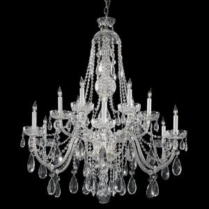 Crystal - 12 Light Chandelier in Classic Style - 42 Inches Wide by 46 Inches High