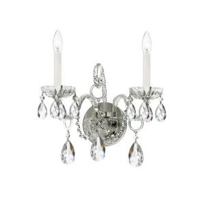 Traditional Crystal - Two Light Wall Mount I