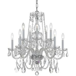 Crystal - Ten Light Chandelier in classic, elegant, and casual Style - 26 Inches Wide by 26 Inches High