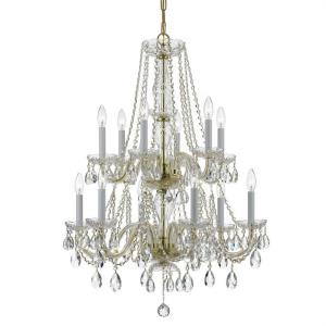 Crystal - Six Light Chandelier in classic, elegant, and casual Style - 26 Inches Wide by 32 Inches High