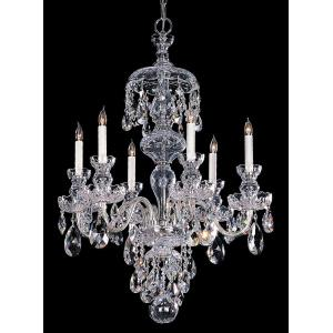Crystal - 6 Light Chandelier in classic, elegant, and casual Style - 26 Inches Wide by 24 Inches High