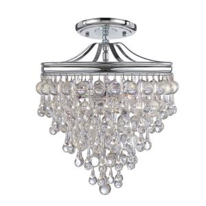 Calypso - Three Light Semi-Flush Mount
