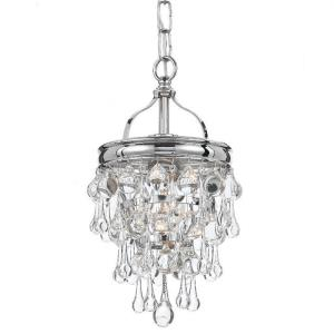 Calypso - 1 Light Pendant in Chrome, Bronze or Gold Finish
