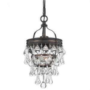 Calypso - 1 Light Pendant in Chrome, Bronze or Gold Finish in traditional and contemporary Style - 7.25 Inches Wide by 13.75 Inches High