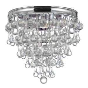 Calypso Transitional 3 Light Ceiling Mount in Minimalist Style - 10.5 Inches Wide by 9.5 Inches High