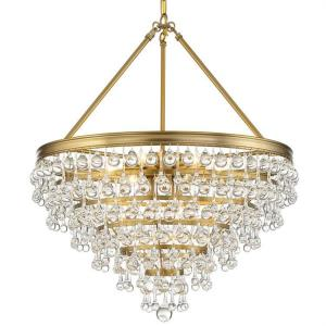 Calypso - Eight Light Chandelier in classic, elegant, and casual  Style - 25 Inches Wide by 27 Inches High