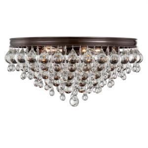 Calypso - Six Light Flush Mount in traditional and contemporary Style - 20 Inches Wide by 9 Inches High