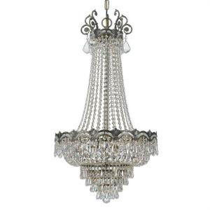 Majestic - Five Light Chandelier in minimalist Style - 20.5 Inches Wide by 38 Inches High