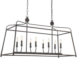 Sylvan - Eight Light Chandelier - No Shades in classic, elegant, and casual Style - 42 Inches Wide by 25 Inches High