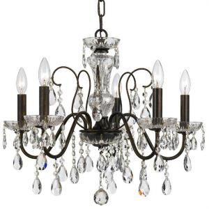 Butler - 5 Light Chandelier in traditional and contemporary Style - 23 Inches Wide by 18.5 Inches High