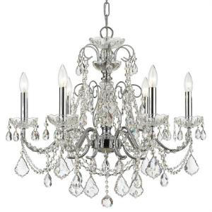 Imperial - 6 Light Chandelier in Minimalist Style - 26 Inches Wide by 24.5 Inches High