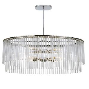 Bleecker - 8 Light Chandelier in traditional and contemporary Style - 36 Inches Wide by 16 Inches High