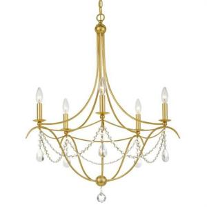 Metro - 5 Light Chandelier in classic, elegant, and casual Style - 27.5 Inches Wide by 33.5 Inches High