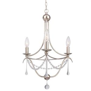Metro II - Three Light Mini Chandelier in traditional and contemporary Style - 15.5 Inches Wide by 21.25 Inches High