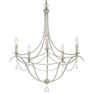 Metro II - Five Light Chandelier in Traditional and Contemporary Style - 27.5 Inches Wide by 33.5 Inches High