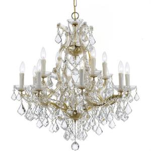 Maria Theresa - Twelve Light Chandelier in natural, organic, and raw Style - 29 Inches Wide by 30 Inches High