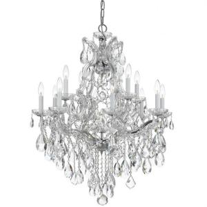 Maria Theresa - Twelve Light Chandelier in Traditional and Contemporary Style - 28 Inches Wide by 32 Inches High