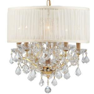 Brentwood - Six Light Mini Chandelier in traditional and contemporary Style - 20 Inches Wide by 19 Inches High