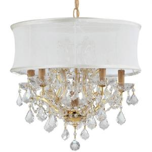 Brentwood - 6 Light Chandelier in minimalist Style - 20 Inches Wide by 19 Inches High