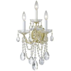 Maria Theresa - Three Light Wall Sconce in natural, organic, and raw Style - 11 Inches Wide by 22.5 Inches High