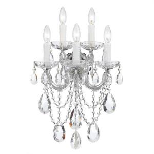 Maria Theresa - Five Light Wall Sconce in natural, organic, and raw Style - 13.5 Inches Wide by 22.5 Inches High