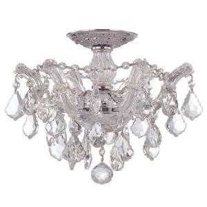 Maria Theresa Collection Crystal 3 Light Ceiling Mount
