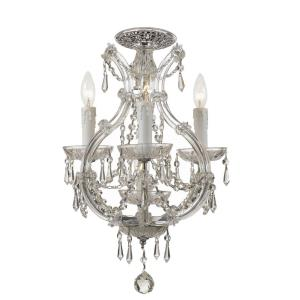 Maria Theresa - Four Light Flush Mount in classic, elegant, and casual Style - 12 Inches Wide by 21 Inches High