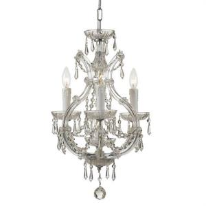 Maria Theresa - Three Light Mini Chandelier in classic, elegant, and casual Style - 12 Inches Wide by 21 Inches High