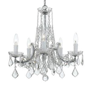Crystal - 5 Light Chandelier in classic, elegant, and casual Style - 20 Inches Wide by 19 Inches High