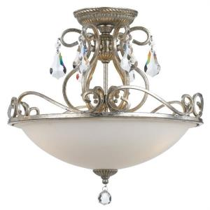 Ashton - Three Light Semi-Flush Mount in Classic Style - 16.5 Inches Wide by 16.25 Inches High