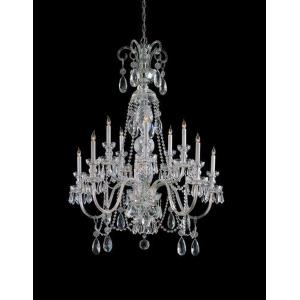 Crystal - 10 Light Chandelier in Classic Style - 36 Inches Wide by 46 Inches High