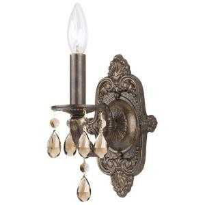 Paris Market - 1 Light Wall Mount in natural, organic, and raw Style - 6.25 Inches Wide by 9.5 Inches High