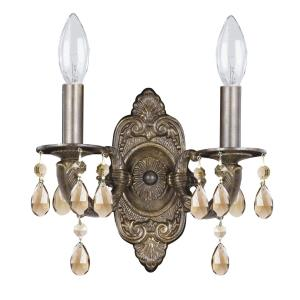 Paris Market - 2 Light Wall Mount in natural, organic, and raw Style - 10.5 Inches Wide by 12 Inches High