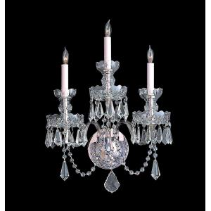 Traditional Crystal - Three Light Wall Sconce
