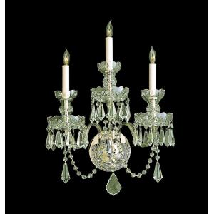 Traditional Crystal - Three Light Wall Mount