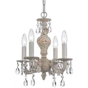Paris Market - Four Light Mini Chandelier in classic, elegant, and casual Style - 13.5 Inches Wide by 15 Inches High