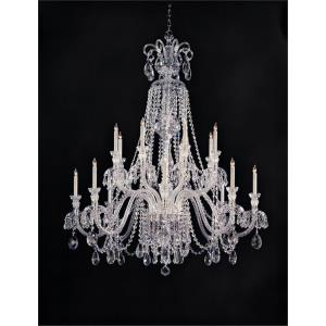 Crystal - Eight Light Chandelier in classic, elegant, and casual Style - 56 Inches Wide by 66 Inches High