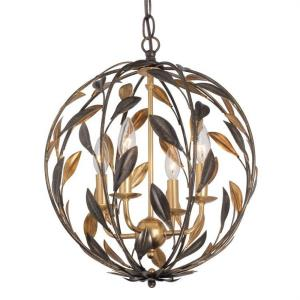 Broche - 4 Light Chandelier