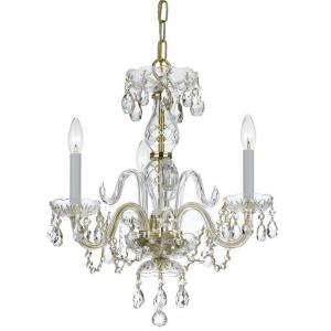 Crystal - Three Light Mini Chandelier in classic, elegant, and casual Style - 16 Inches Wide by 18 Inches High