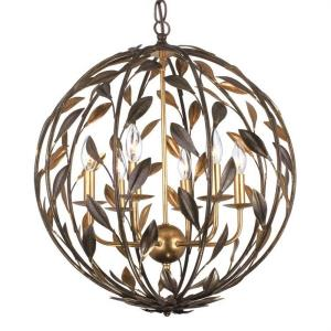 Broche - Six Light Chandelier