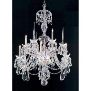Traditional Crystal - Nine Light Chandelier